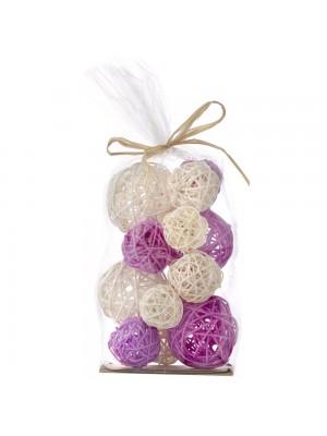 Декоративни ратанови топки X15 лилави