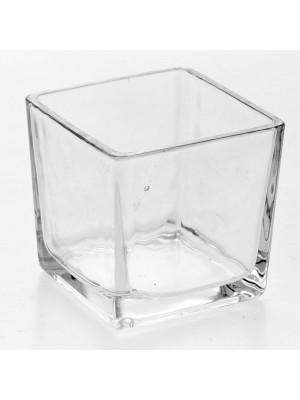 Стъклена ваза от прозрачно стъкло 8X8X8 CM