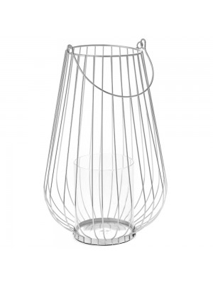 SILVER METAL CANDLE HOLDER D 20X32 WITH