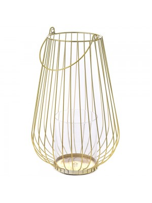 GOLD METAL CANDLE HOLDER D 20X32 WITH G