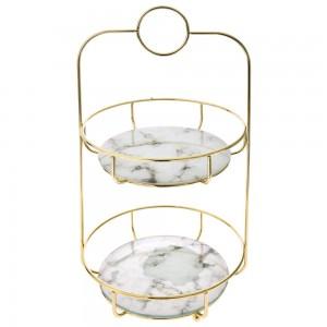 GOLD METAL/GLASS/MARBLE  BASE 26X25X45C
