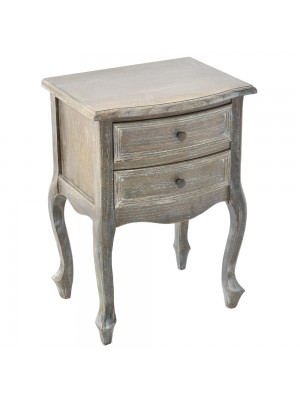 WOODEN BEDSIDE TABLE 2 DRAWERS 45X35X64