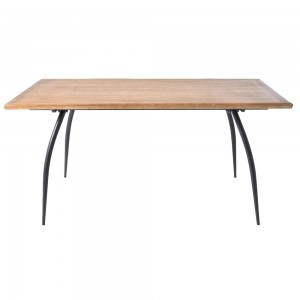 WOOD AND METAL DINNER TABLE 175X90X82 C