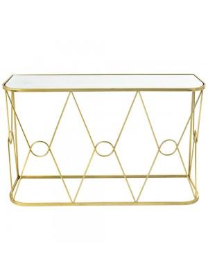 GOLD METAL CONSOLE TABLE 120X35X80 W MI