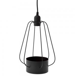 DECO BLACK METAL LAMP WITH POT 29X39CM