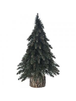 XMAS GREEN TREE 50CM ON A LOG