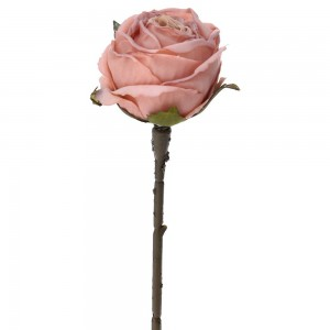 Розова роза 28см