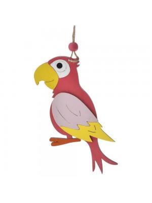 Дървен папагал 8X24 CM