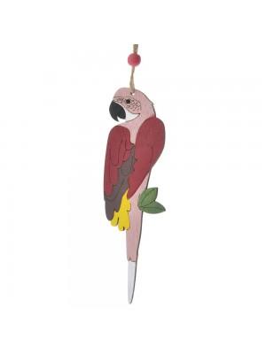 Дървен папагал 5X28 CM
