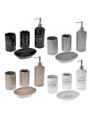 Керамичен сет за баня 4 части в 4 различни цвята