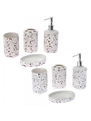 Керамичен сет за баня 4 части в 2 различни цвята