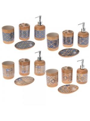 Керамичен сет за баня 3 части в 4 различни цвята
