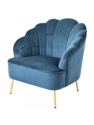 Плюшено кресло в петролен цвят 74X70X79CM