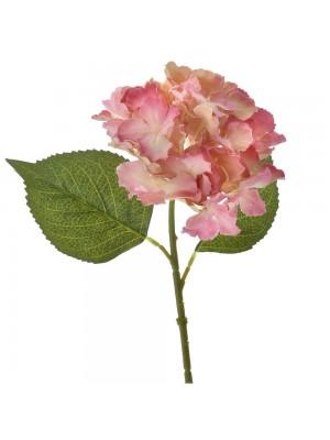 Розова хортензия 36см
