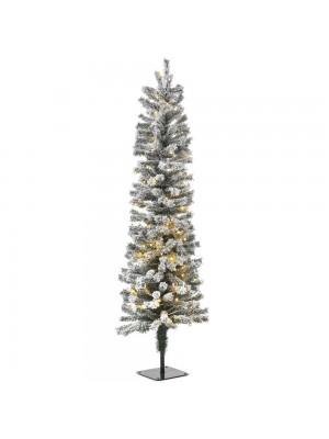 XMAS TREE PRE-LIT SNOW PENCIL Φ35Χ90CM WITH 70 WHITE LED LIGHTS 140TIPS