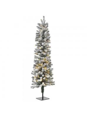 XMAS TREE PRE-LIT SNOW PENCIL Φ40Χ120CM WITH 100 WHITE LED LIGHTS 188TIPS