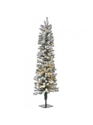 XMAS TREE PRE-LIT SNOW PENCIL Φ45Χ150CM WITH 140 WHITE LED LIGHTS 260TIPS