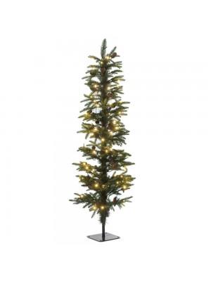 XMAS TREE PRE-LIT PENCIL PINE Φ40Χ120CM WITH 100 WHITE LED LIGHTS 386TIPS