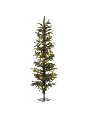 XMAS TREE PRE-LIT PENCIL PINE Φ45Χ150CM WITH 140 WHITE LED LIGHTS 566TIPS