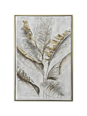 Маслена картина със златна рамка бананово листо