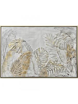 Маслена картина със златна рамка златно листо