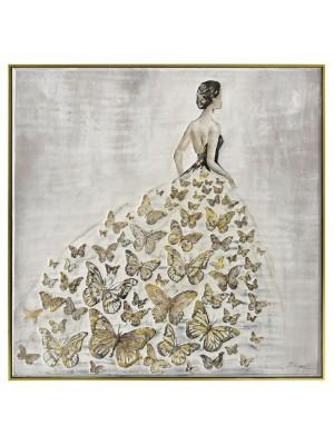 Маслена картина със златна рамка женска фигура