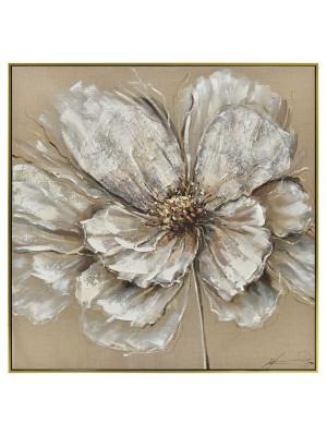 Маслена картина със златна рамка цветя