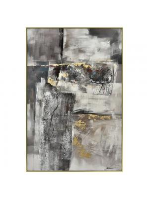 Маслена картина със златна рамка абстрактна
