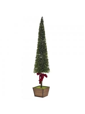 XMAS GREEN PVC TREE 20X70-95CM WΙΤΗ WOODEN BASE