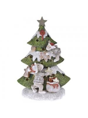 POLYRESIN CHRISTMAS TREE 13X9X19CM