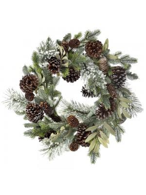 CHRISTMAS FIR WREATH WITH CONES 50CM