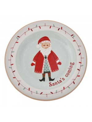 CHRISTMAS CERAMIC PLATE 20CM SANTA DESIGN