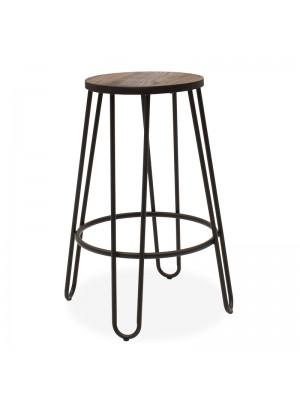 Бар стол Sharps метален матолв седалка орег гланц