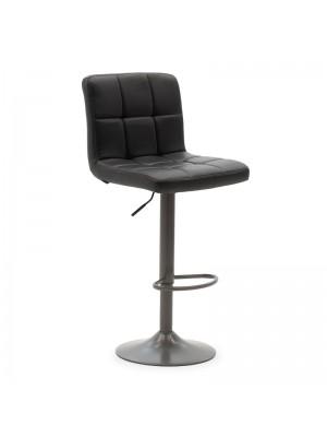Бар стол Remina черна еко кожа