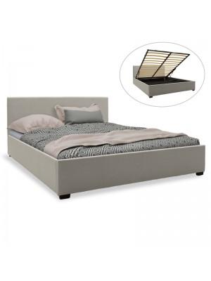 Спалня с ракла Norse дамаска сив текстил 160x200cm