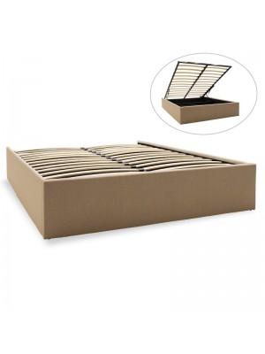 Двойно легло с ракла Tiger дамаска бежов текстил 150x200cm
