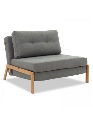 Разтегателно кресло Fancy сив текстил 96x92x70cm
