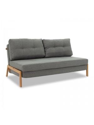 Разтегателен диван Fancy сив текстил 150x92x77м