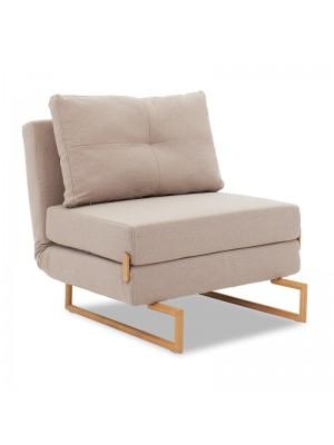 Разтегателно кресло Edda в бежово-кафяв цвят 77x93x86cm