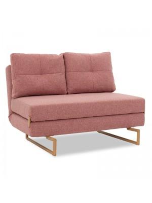 Разтегателен диван Edda розов текстил 118x98x86см