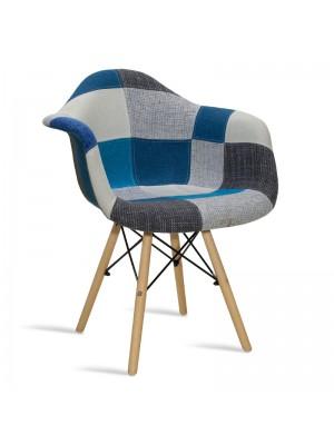 Стол текстилен Julita синьо-сиво пачуърк