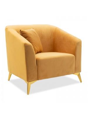 Кресло Pax плюшено жълто 87x77x82cm