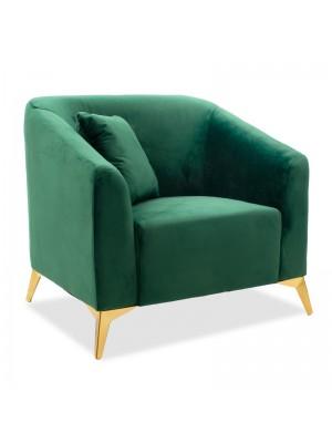 Кресло Pax плюшено тъмно зелено 87x77x82cm