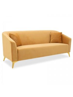 Триместен диван Pax с жълта плюшена дамаска 199x77x82cm