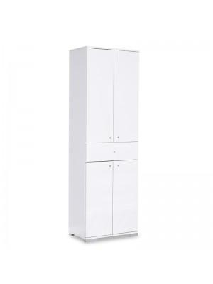 Многофункционален шкаф Chad бял гланц 60x40x187cm