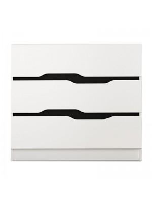 Шкаф Comfy в черно и бяло 100x38,5x71cm