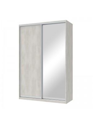 Гардероб Pallas с 2 слайд врати с огледало бяло-сив цвят 150x60x225cm