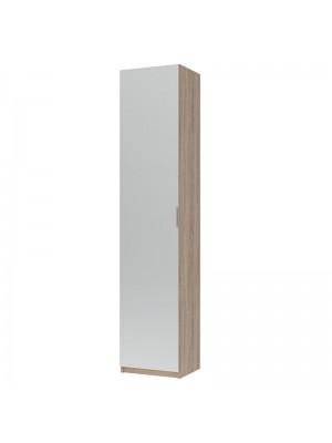 Шкаф за обувки Eliot с огледало цвят сонома 45x38x210cm