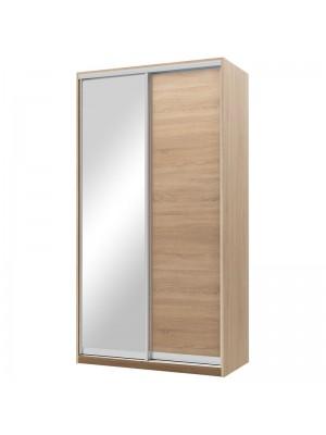 Гардероб Pallas с 2 слайд врати с огледало цвят сонома 120x60x225cm