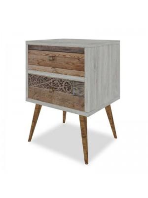 Нощно шкафче в цвят сив орех 40x35x55cm